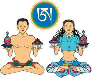 7 ноября 2020 - ганапуджа, санг и серкем в день нисхождения  Будды с небес Тушита.